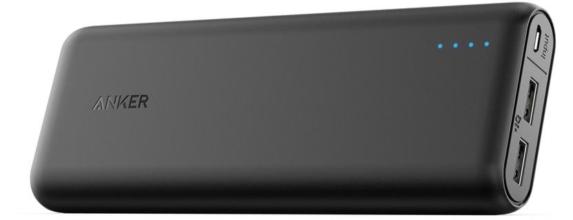 Внешний аккумулятор ANKER PowerCore 20000 mAh,A1271G11, черный внешний аккумулятор anker powercore 26800 a1374h11 черный