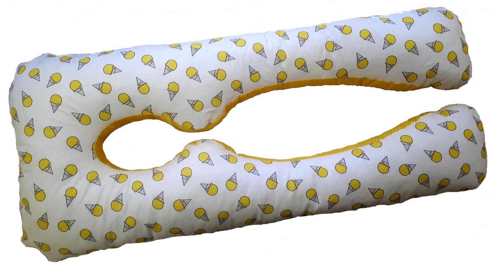 Подушка для кормящих и беременных Texxet E360 Мороженки/жёлтый горох