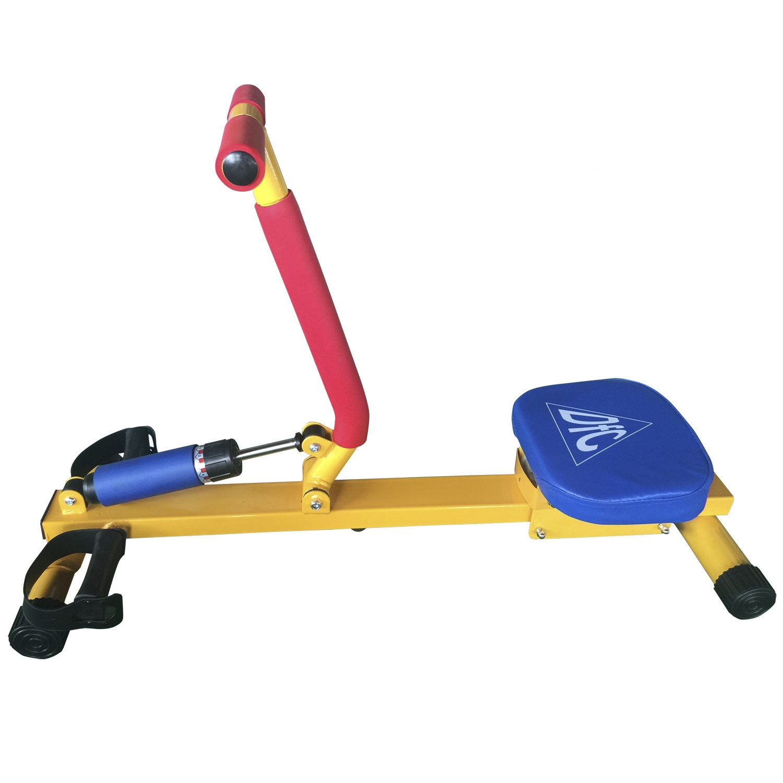 Гребной тренажер DFC VT-2700, желтый тренажер педальный для ног и рук