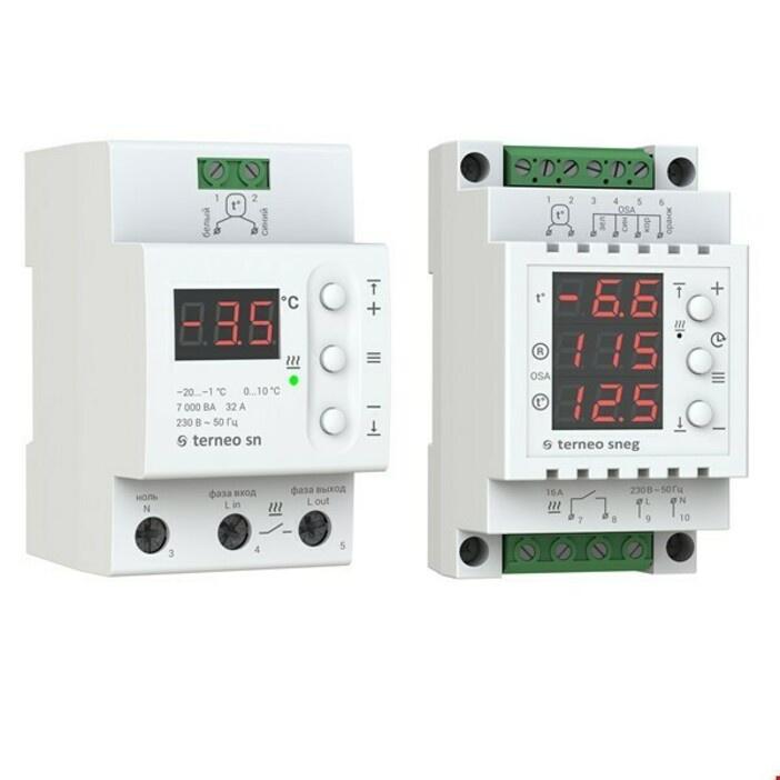 Регулятор теплого пола Terneo Регулятор sneg c датчиком осадков регулятор теплого пола terneo терморегулятор pro