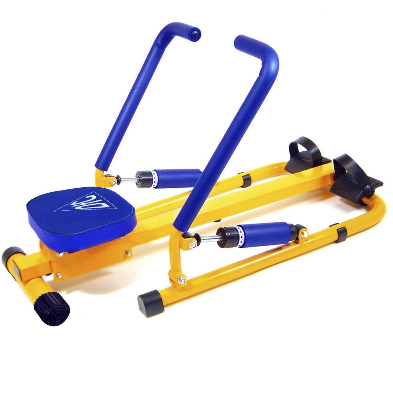 Гребной тренажер DFC VT-2500, желтый тренажер педальный для ног и рук