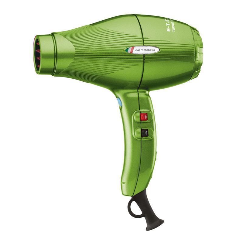 Фен для волос Gamma Piu E-T-C Light, зеленый gamma piu фен e t c mini черный 1200w