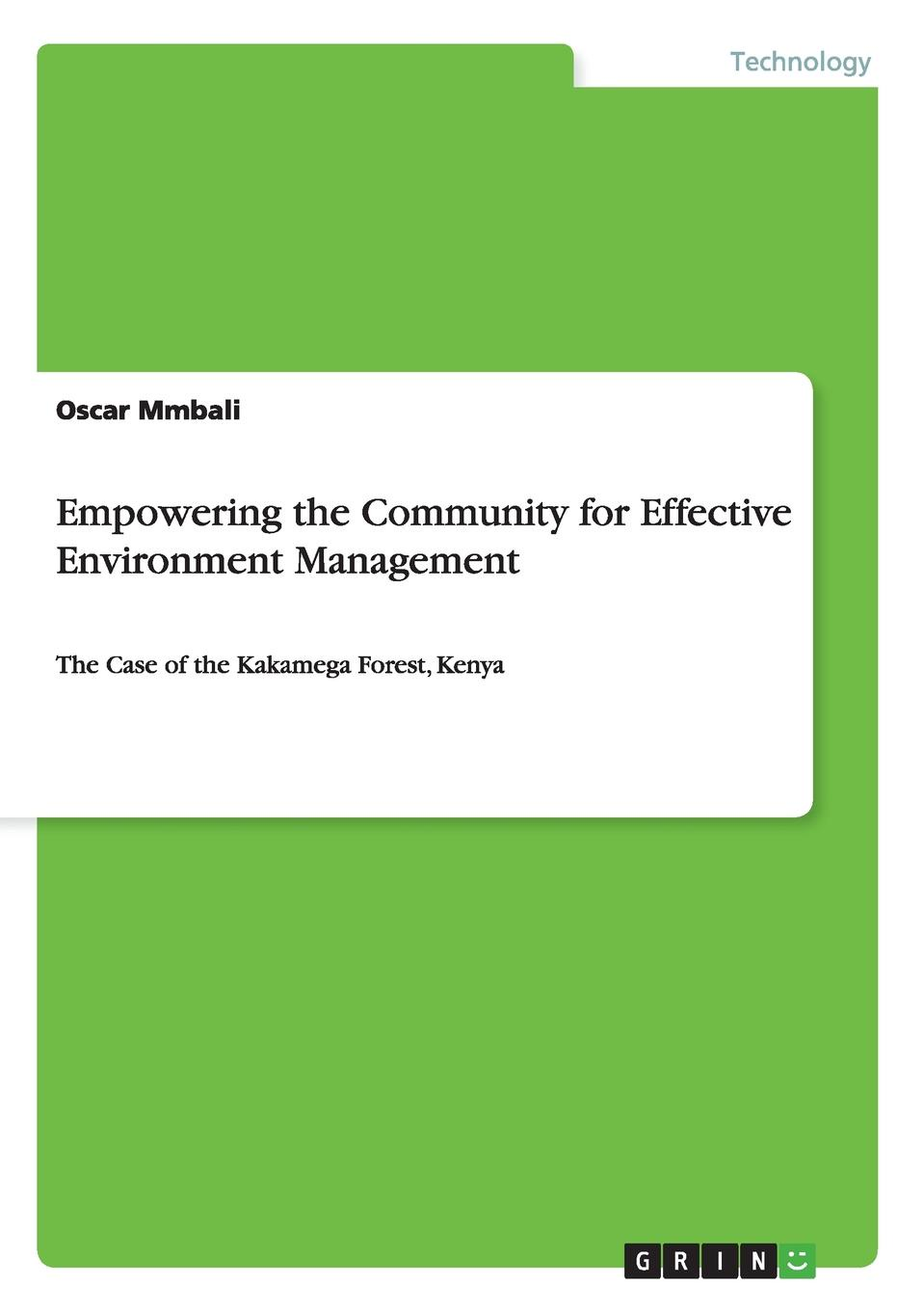 Oscar Mmbali Empowering the Community for Effective Environment Management цена и фото