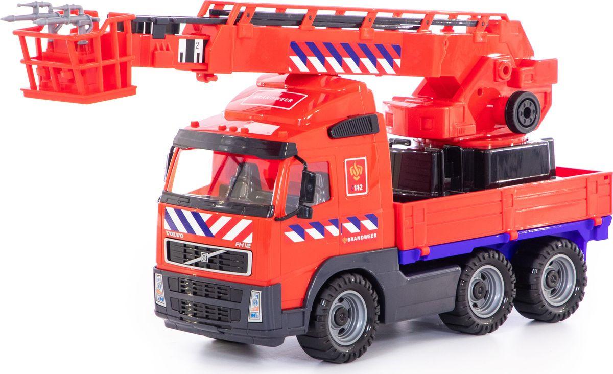 Машинка Полесье Volvo пожарный, 77301 машина игрушечная с аксессуарами полесье volvo дорожный каток