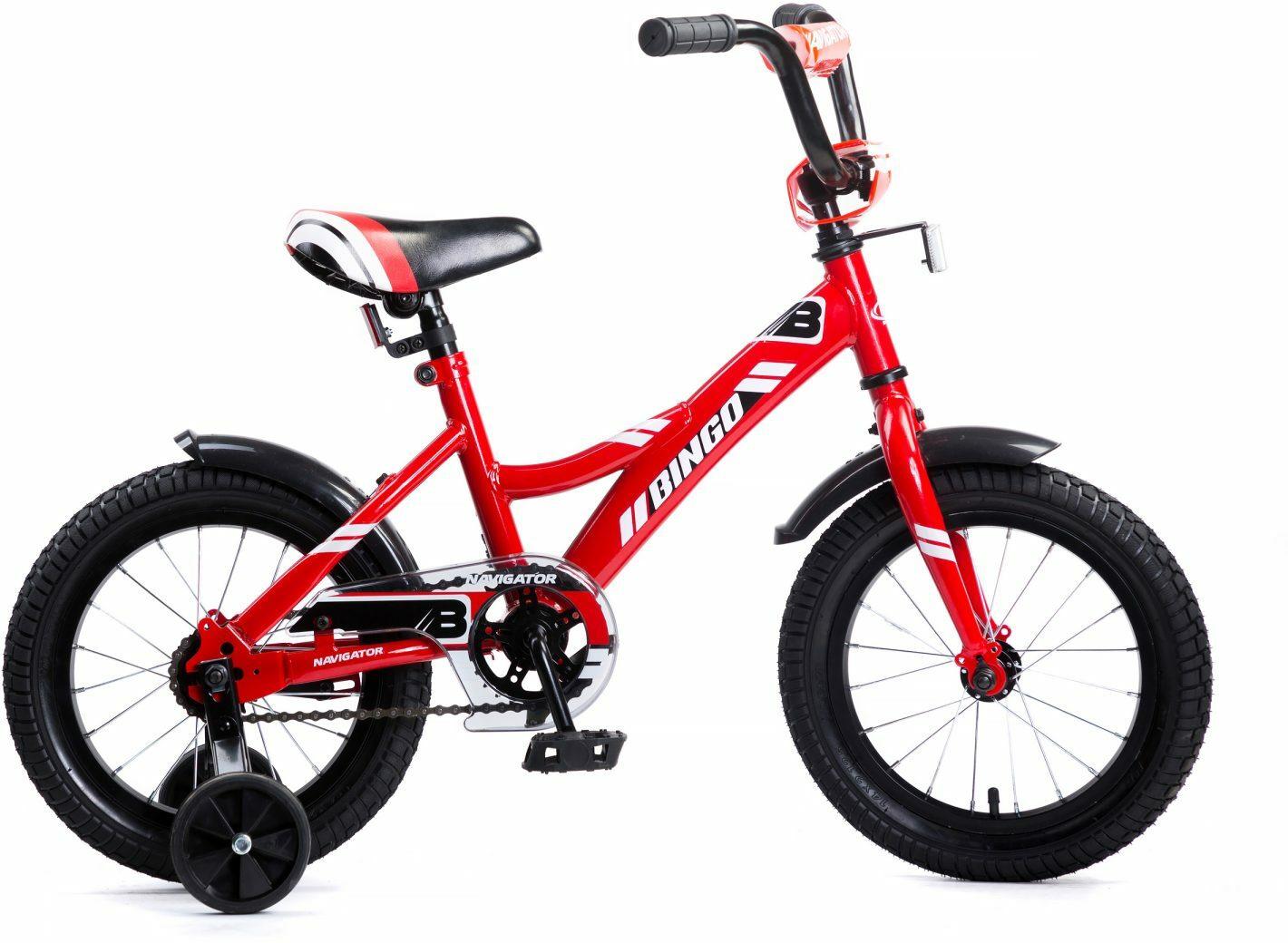 Велосипед детский Navigator Bingo, ВМ14177, разноцветный, колесо 14 велосипед детский navigator hot wheels 14 1 скорость