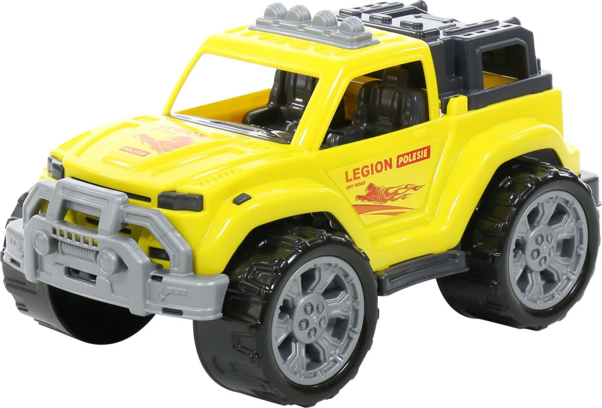 Машинка Полесье Легион №3, 76038, желтый