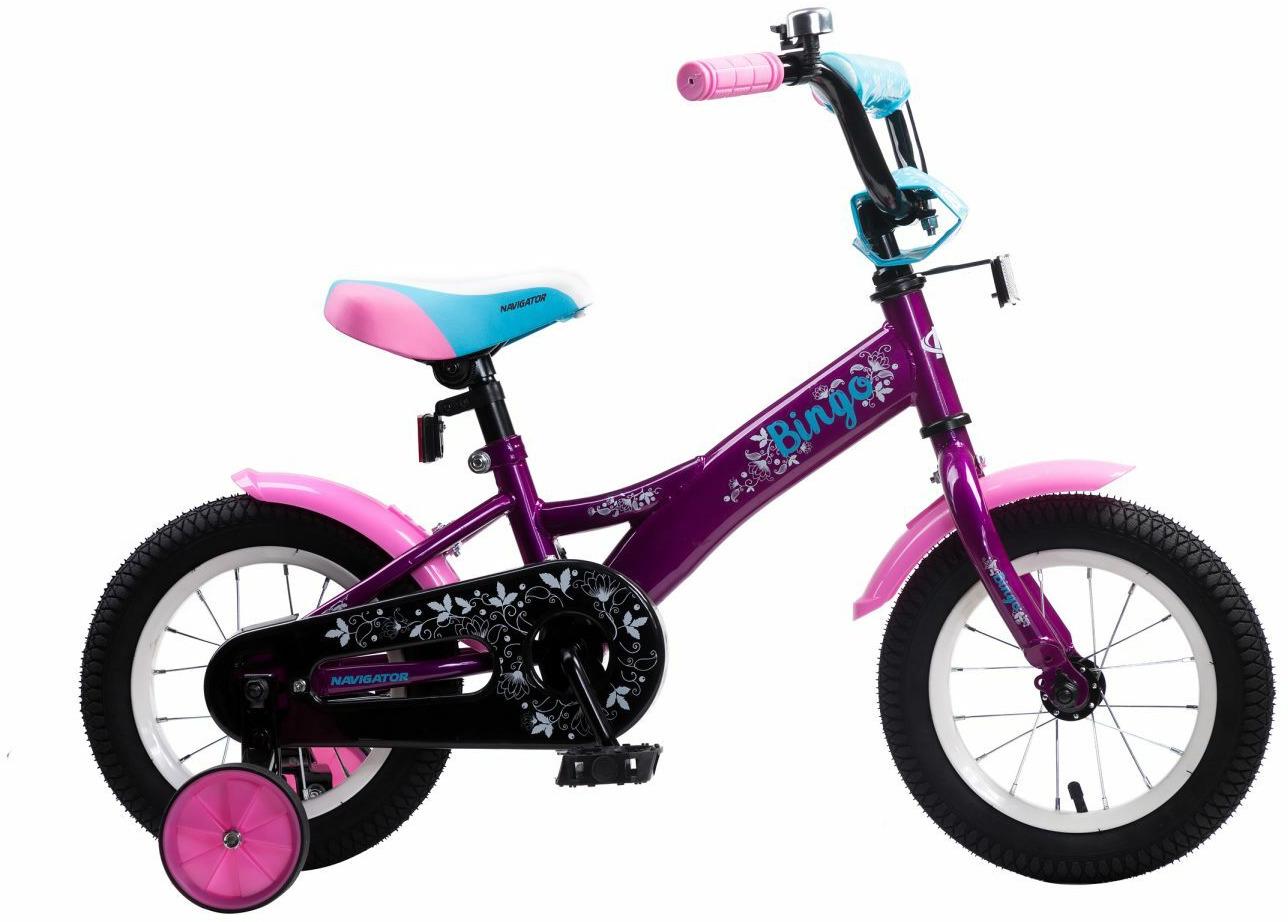 Велосипед детский Navigator Bingo, ВН12134, розовый, голубой, колесо 12