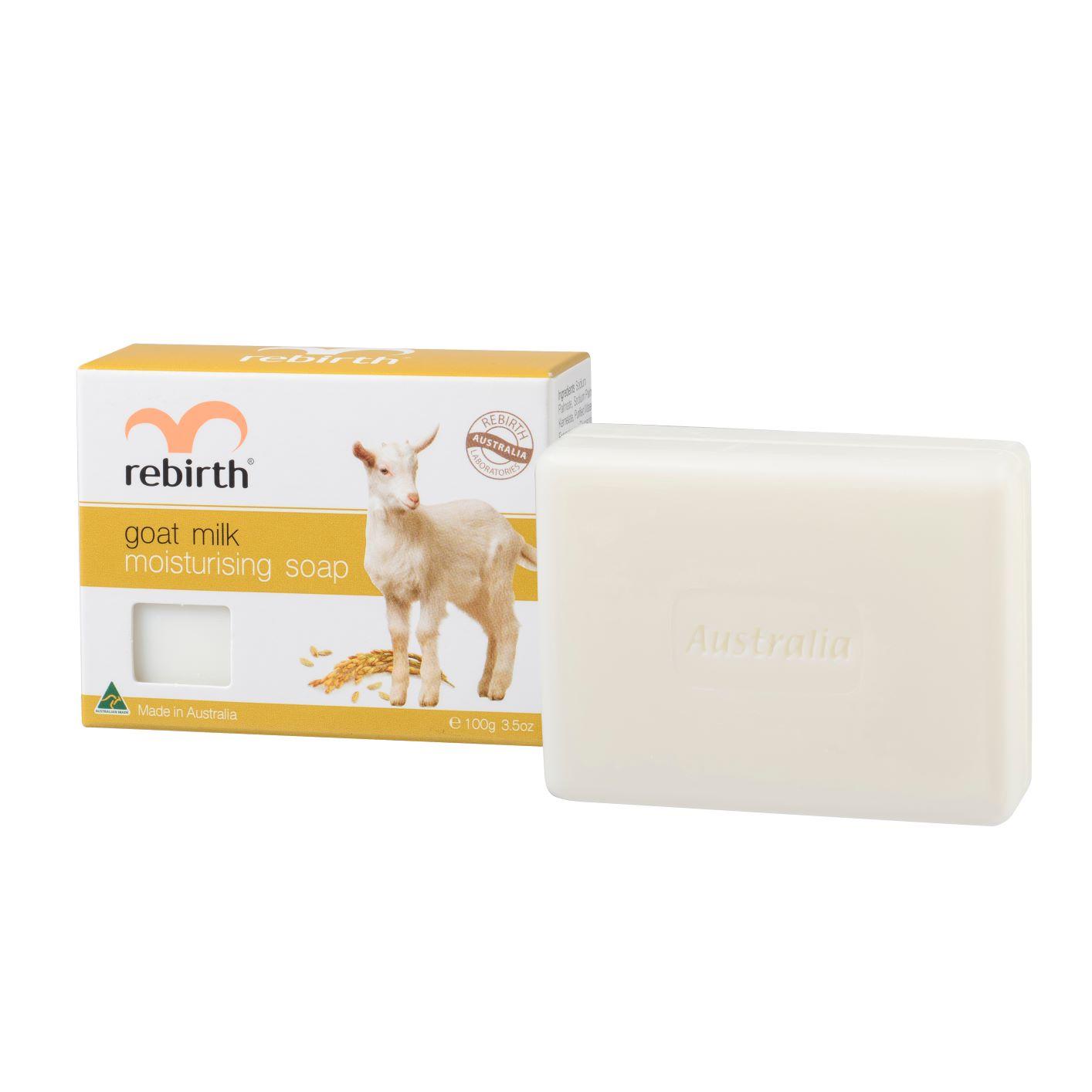 Rebirth Мыло туалетное твердое увлажняющее на основе козьего молока GOAT MILK MOISTURISING SOAP 100гр кабрита 2 голд смесь молочная для детей на козьем молоке 400г