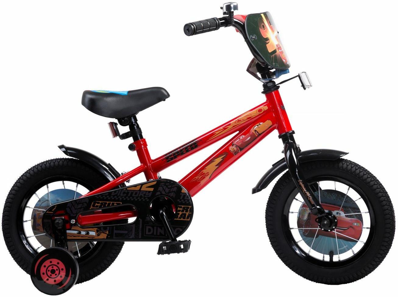Велосипед детский Disney Тачки, ВН12140, черный, красный, колесо 12