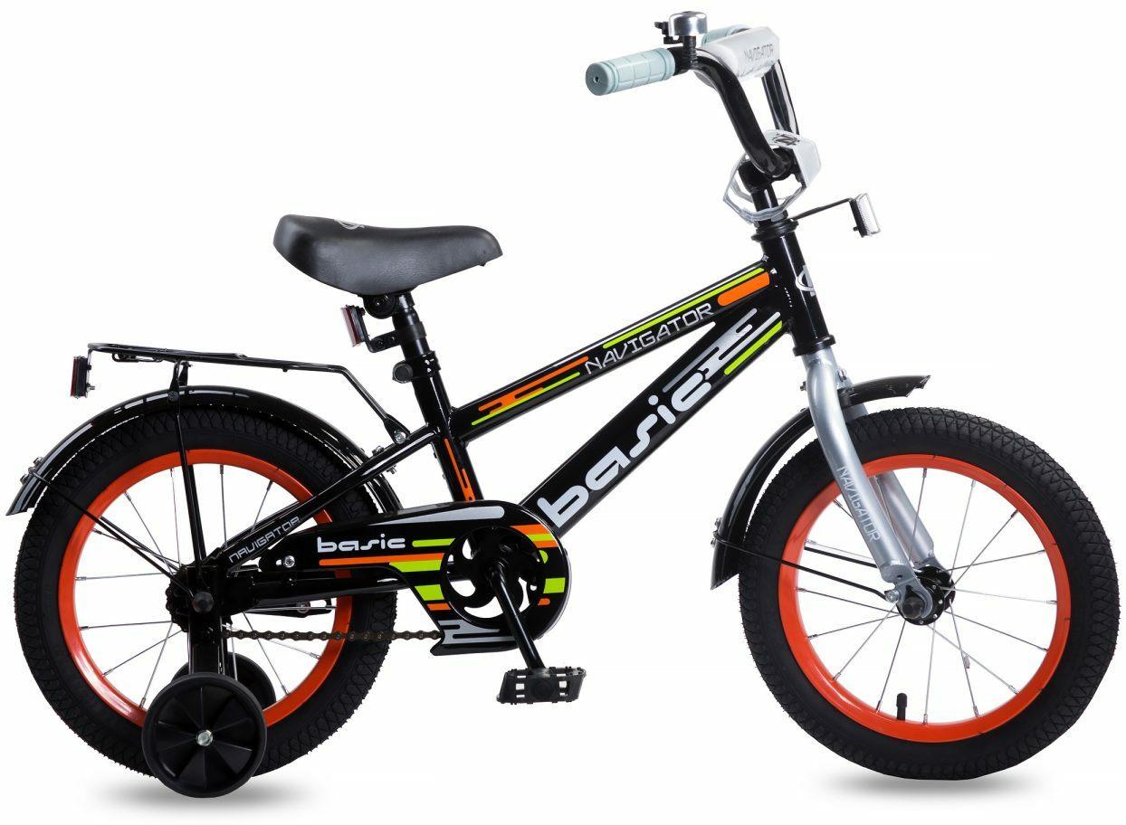 Велосипед детский Navigator Basic, ВН14176, черный, красный, колесо 14