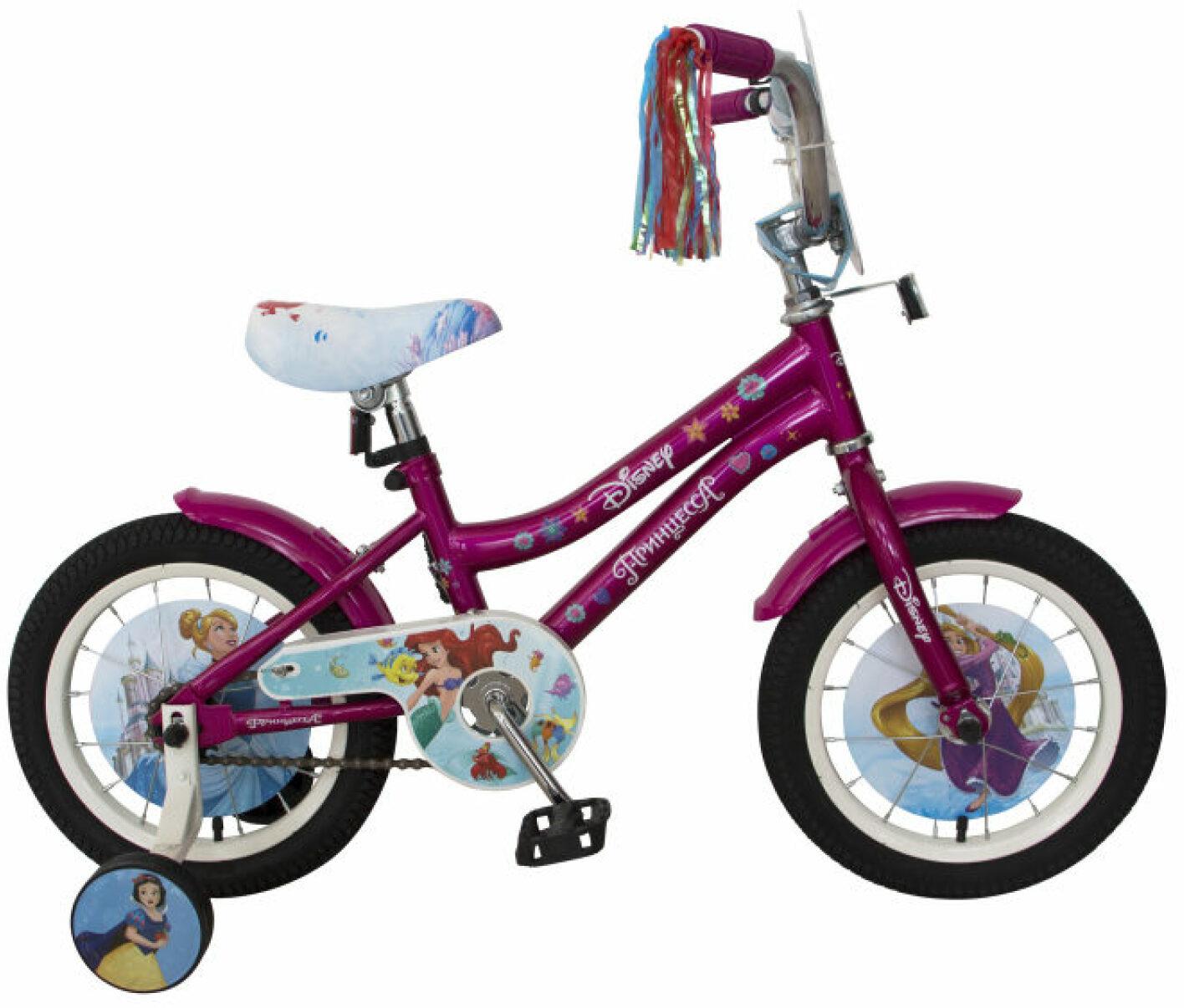Велосипед детский Disney Принцесса, ВН14182, розовый, белый, колесо 14