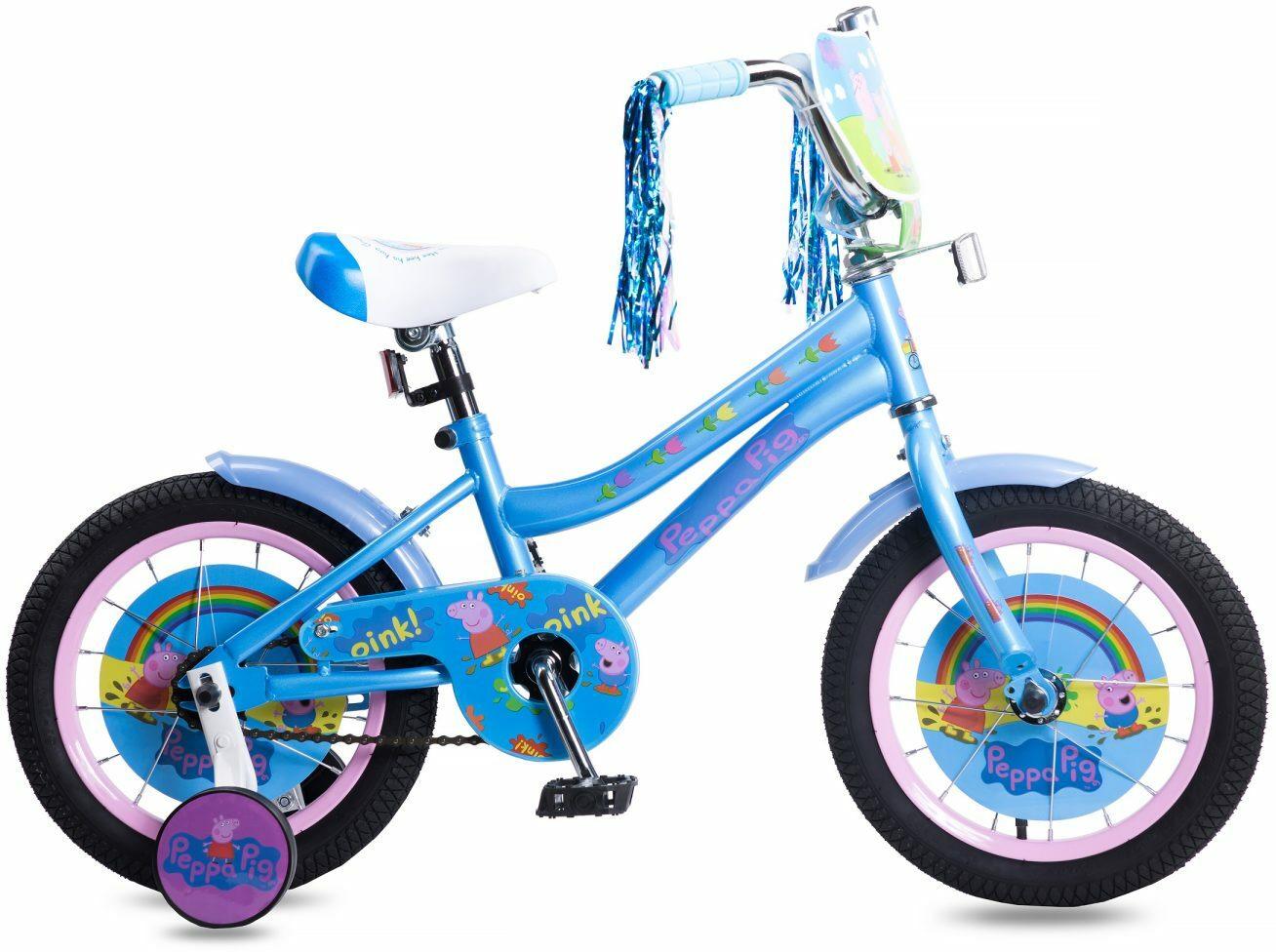Велосипед детский Navigator Peppa Pig, ВН14183, голубой, розовый, колесо 14