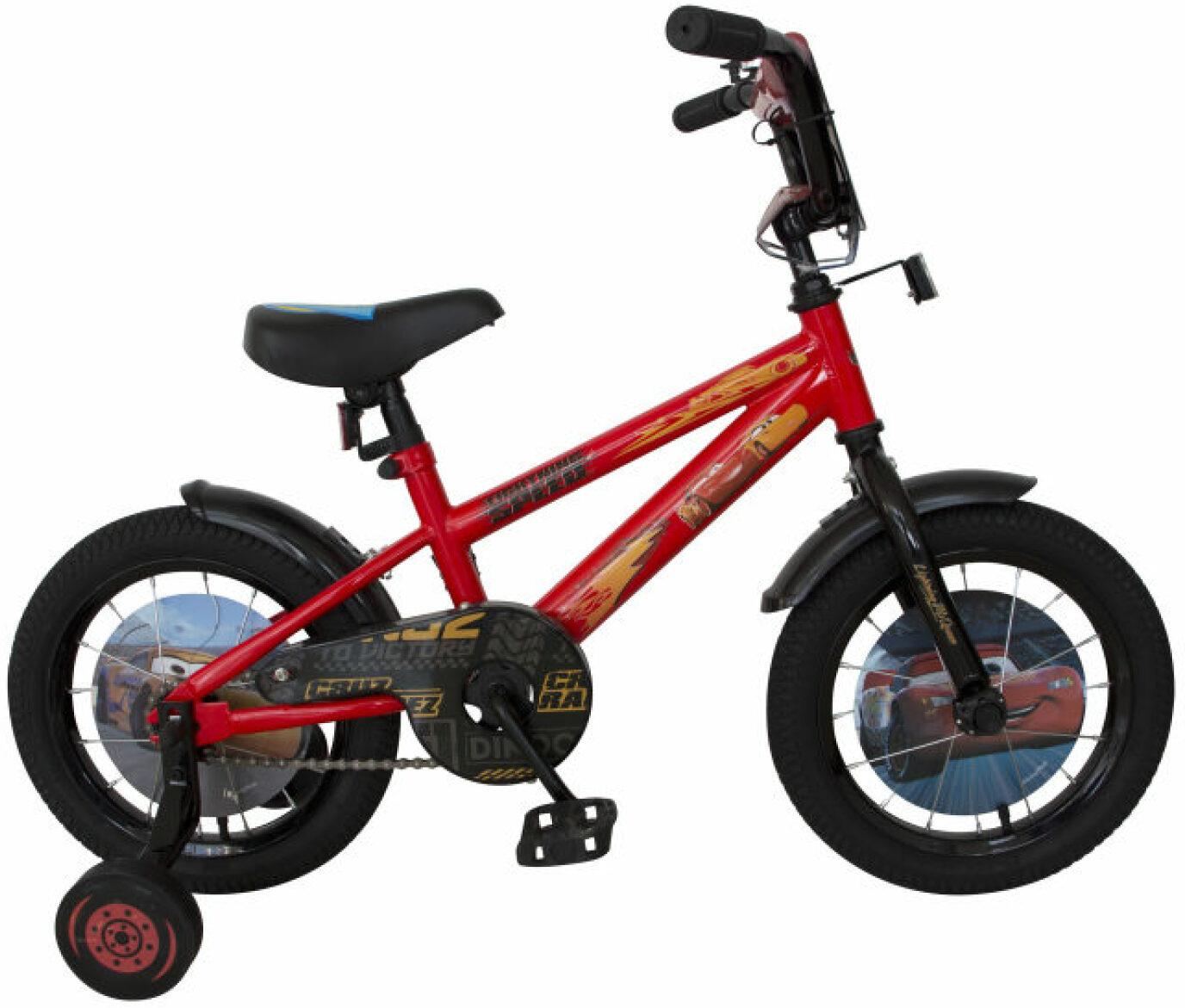 Велосипед детский Disney Тачки, ВН14184, черный, красный, колесо 14