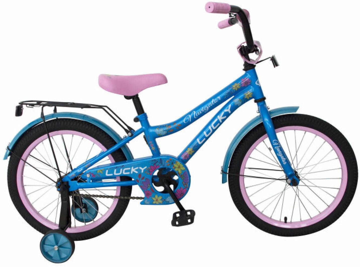 Велосипед детский Navigator Lucky, ВН16133, голубой, розовый, колесо 16