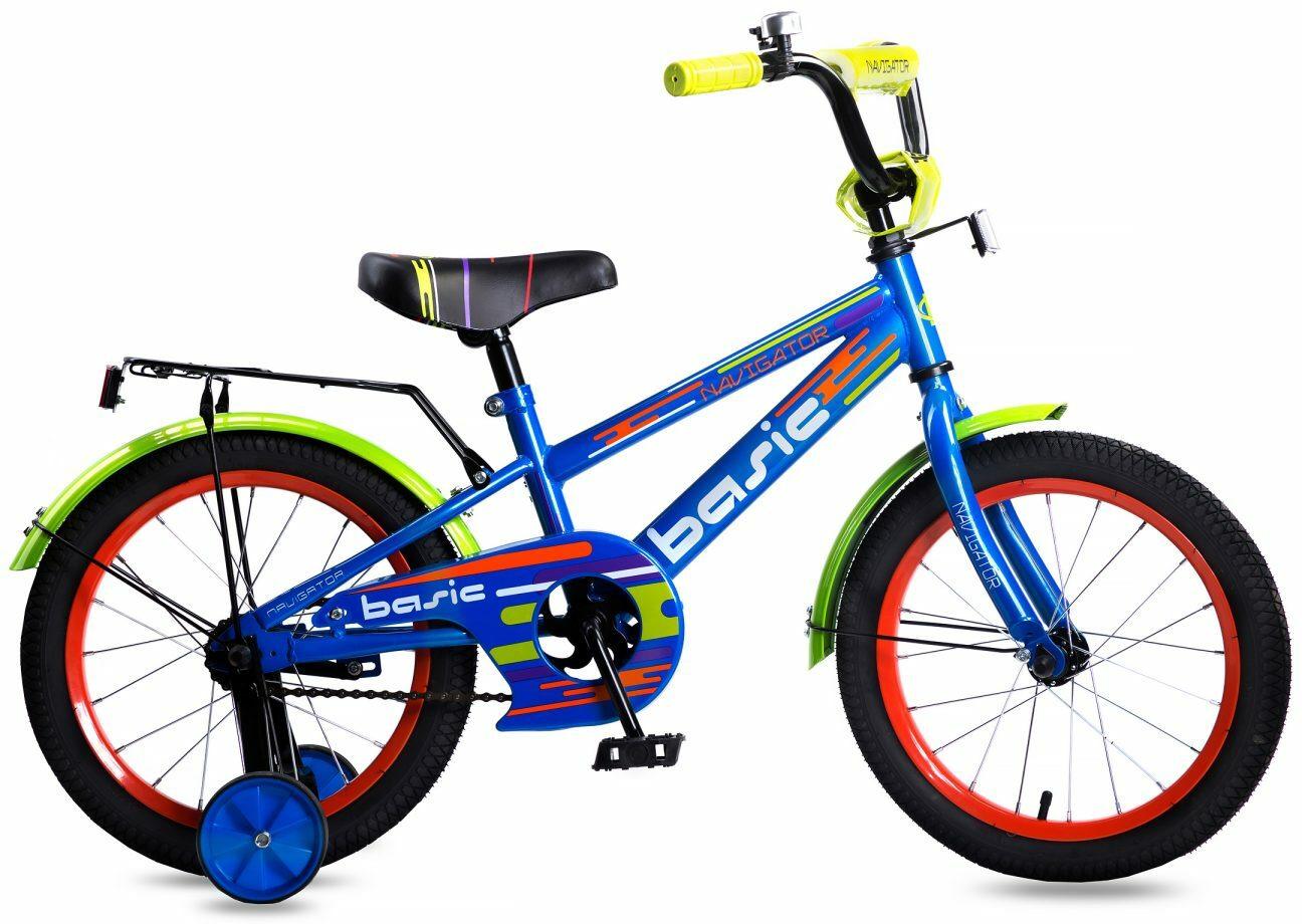 Велосипед детский Navigator Basic, ВН16134, голубой, колесо 16