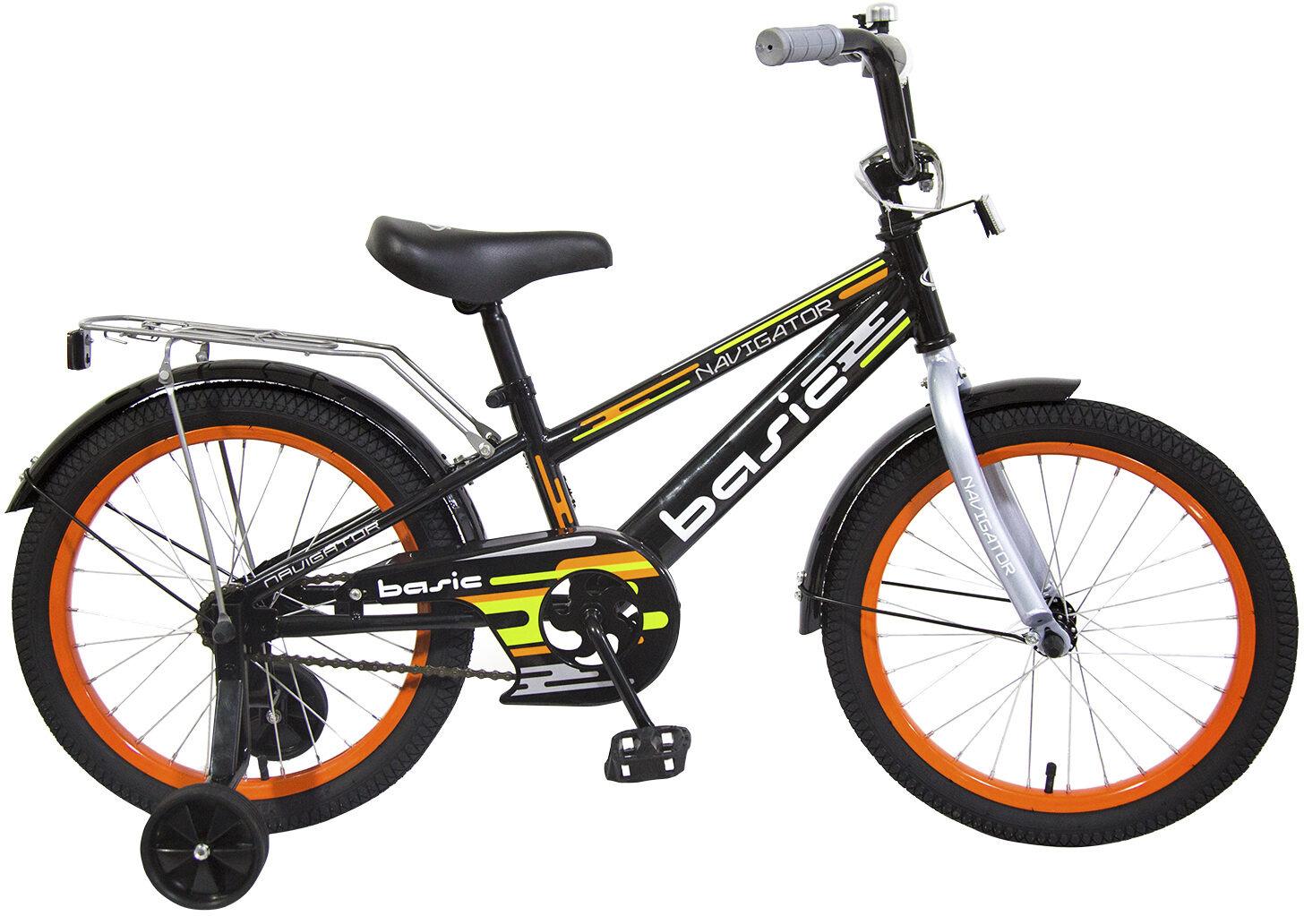 Велосипед детский Navigator Basic, ВН18094, желтый, черный, колесо 18