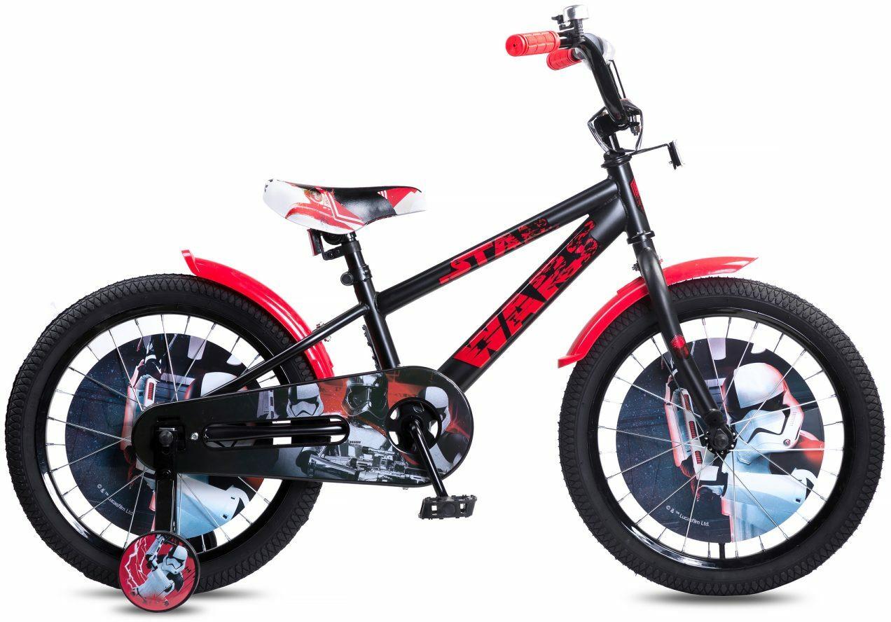 Велосипед детский Disney Star Wars, ВН18100, черный, красный, колесо 18