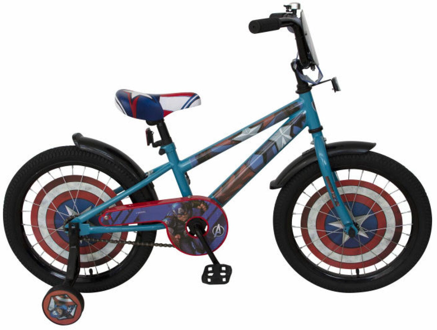 Велосипед детский Marvel Мстители. Капитан Америка, ВН18103, синий, черный, колесо 18
