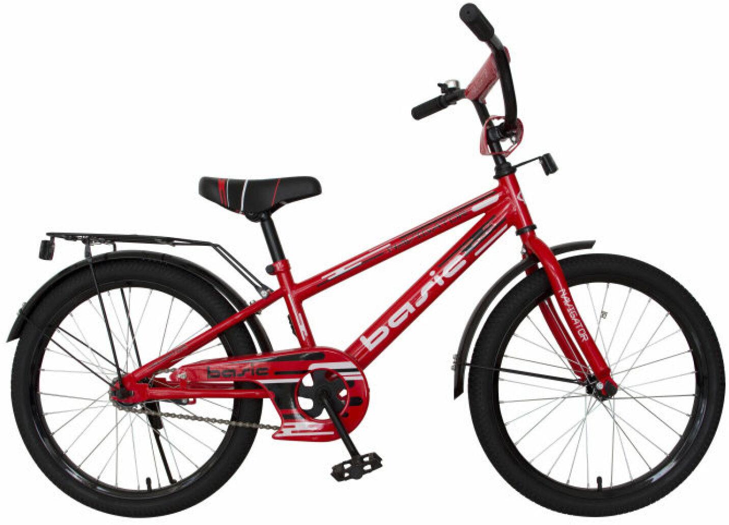 Велосипед детский Navigator Basic, ВН20183, черный, красный, колесо 20