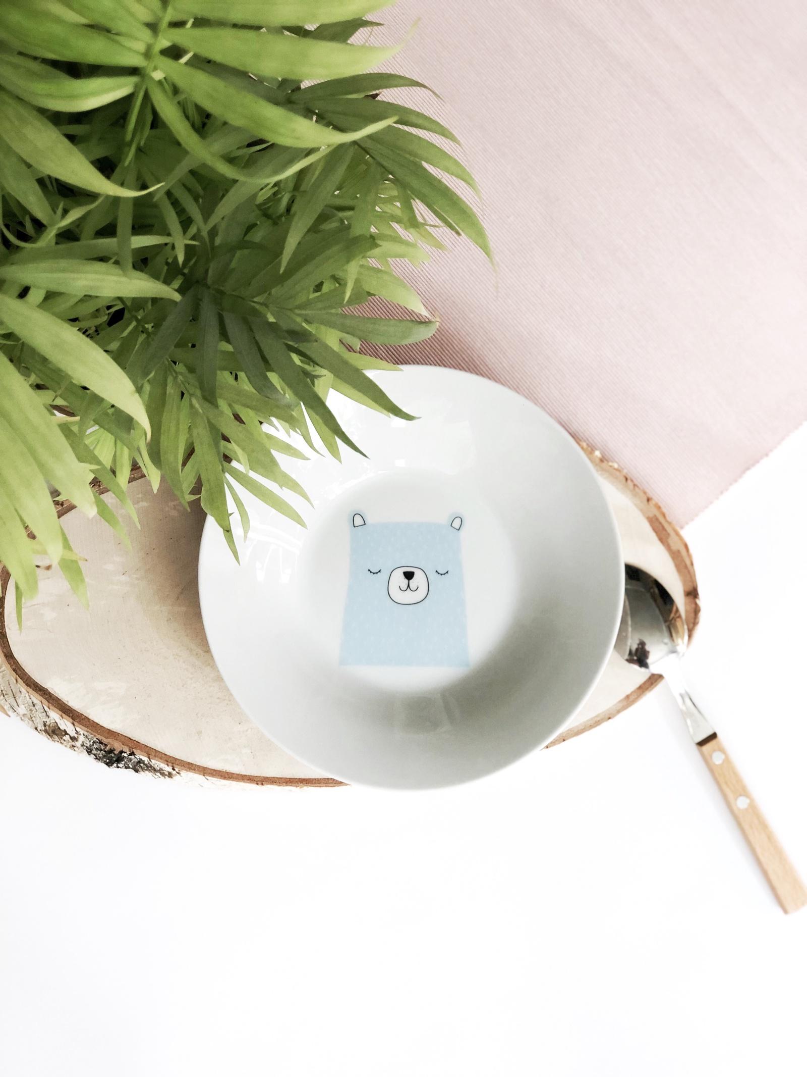 Тарелка глубокая Сотвори Чудо Teddy 20 см, белый тарелка мелкая сотвори чудо розовый фламинго диаметр 20 см