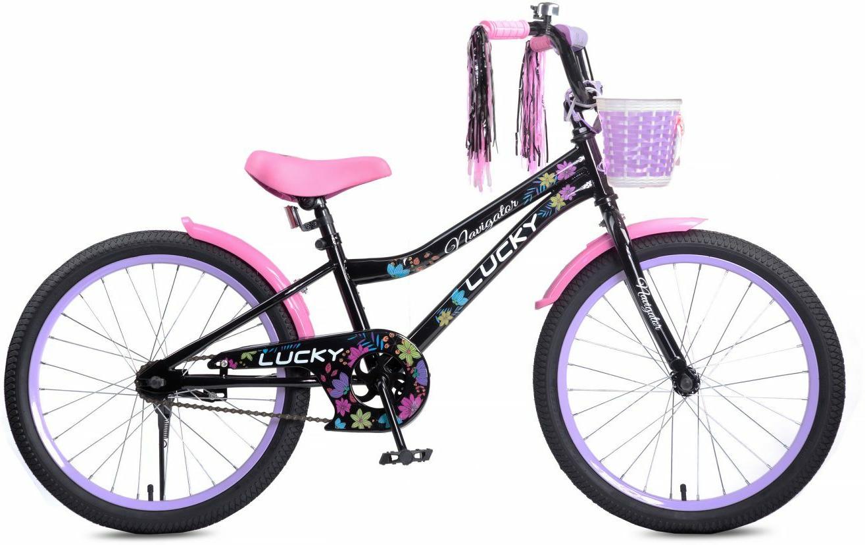 Велосипед детский Navigator Lucky, ВН20186, черный, розовый, колесо 20