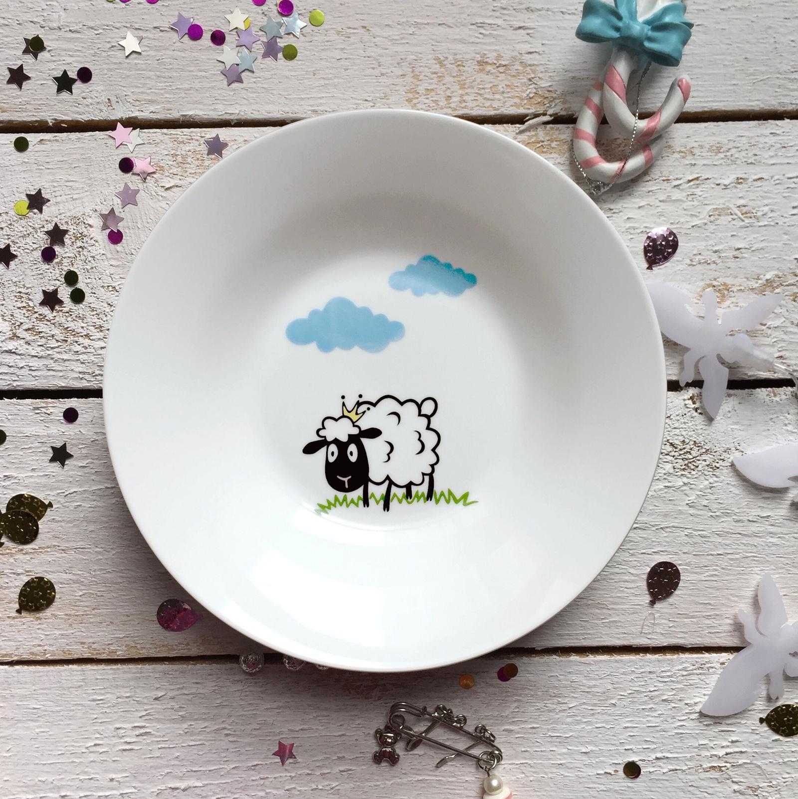 Тарелка глубокая Сотвори Чудо Долли 20 см, белый тарелка мелкая сотвори чудо перо диаметр 15 5 см