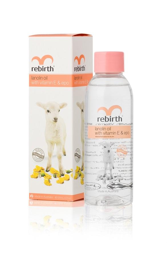 Rebirth Масло c Ланолином, витамином Е и маслом вечерней примулы Lanolin Oil 125ml недорого