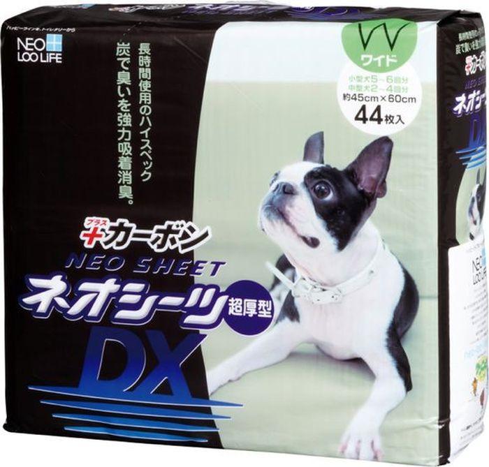 Пеленка для животных Neo Sheet Dx, впитывающая, с активированным углем, 207656, 45 х 60 см, 44 шт