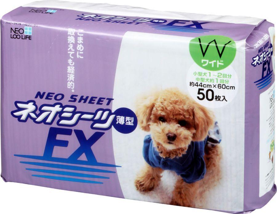 Пеленка для животных Neo Sheet Dx, впитывающая, тонкая, 208264, 44 х 60 см, 50 шт