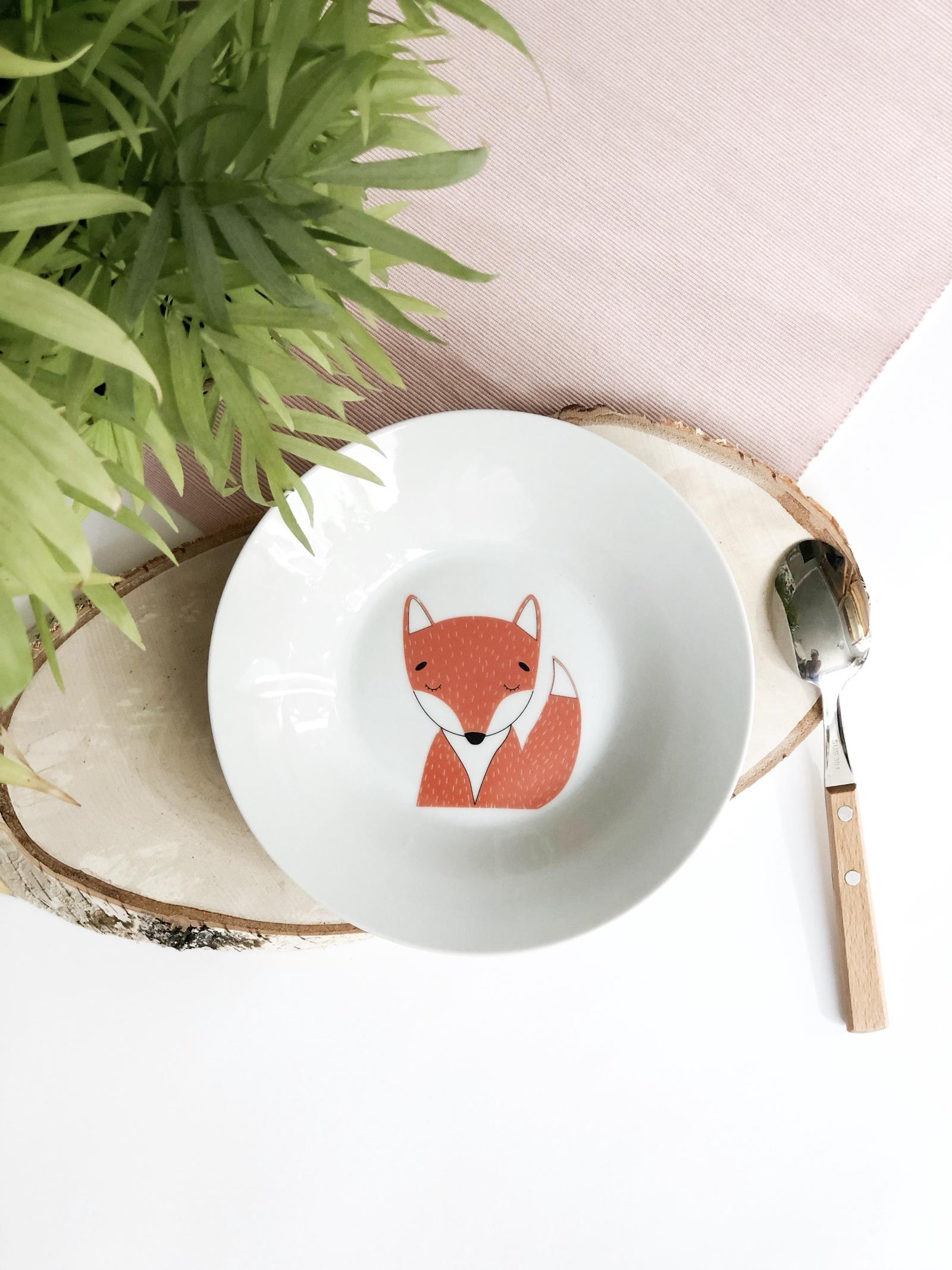 Тарелка глубокая Сотвори Чудо Лисенок 20 см, белый тарелка мелкая сотвори чудо бантик sans brides диаметр 20 см