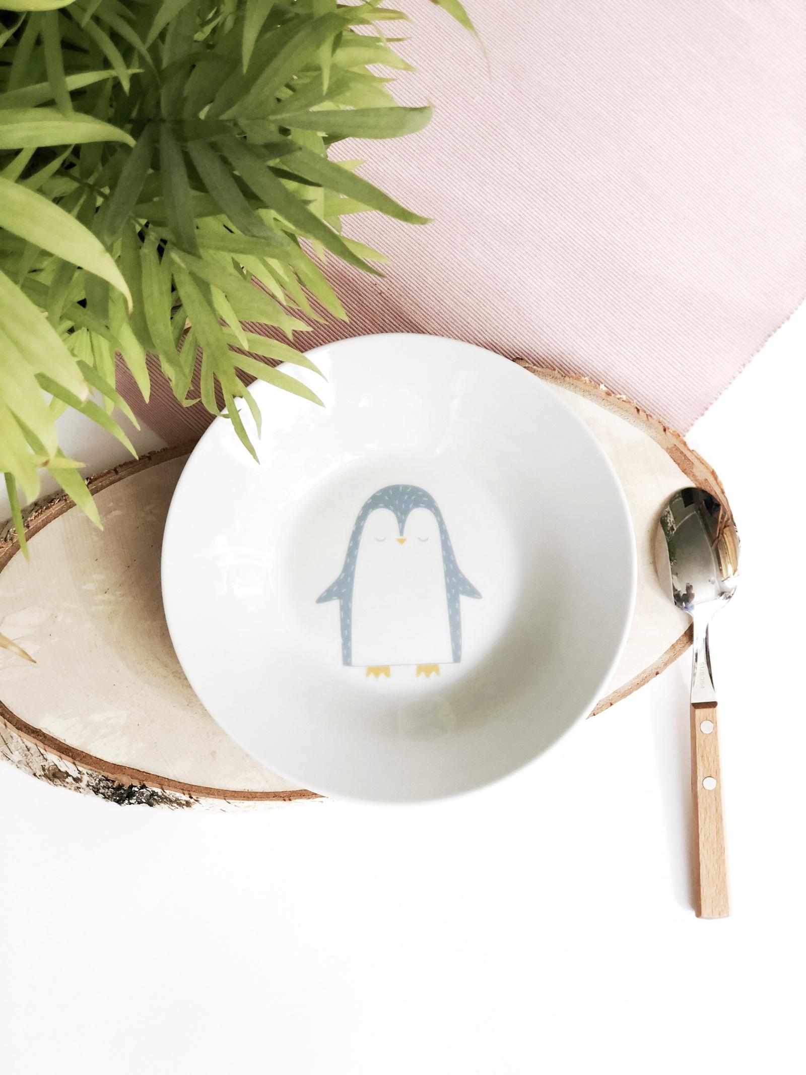 Тарелка глубокая Сотвори Чудо Пингвинчик 20 см, белый тарелка мелкая сотвори чудо розовый фламинго диаметр 20 см