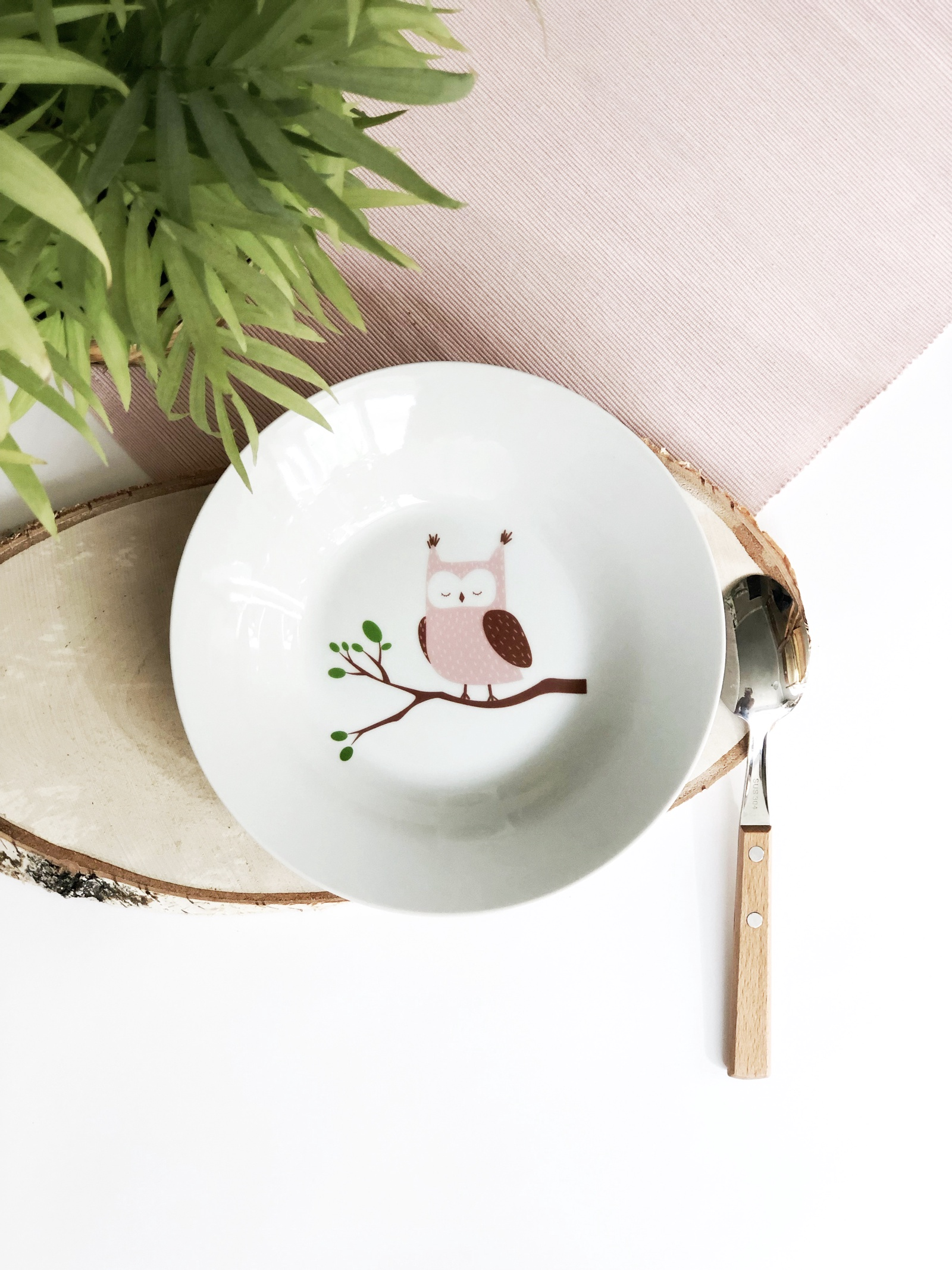 Тарелка глубокая Сотвори Чудо Совуша 20 см, белый тарелка мелкая сотвори чудо бананы диаметр 20 см