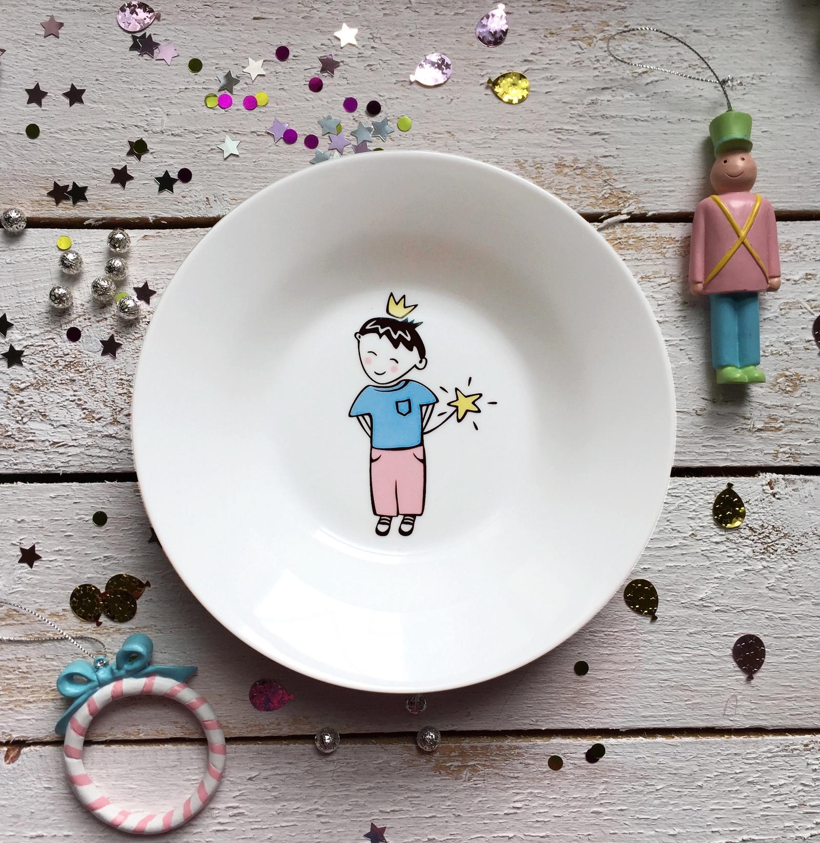 Тарелка глубокая Сотвори Чудо Маленький король 20 см, белый тарелка мелкая сотвори чудо бантик sans brides диаметр 20 см