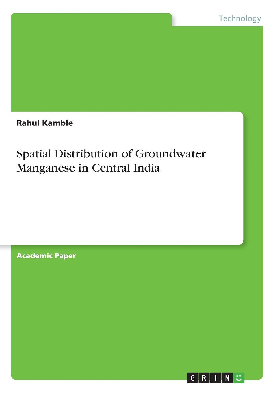 Rahul Kamble Spatial Distribution of Groundwater Manganese in Central India experimental and simulation study for stress concentration factor