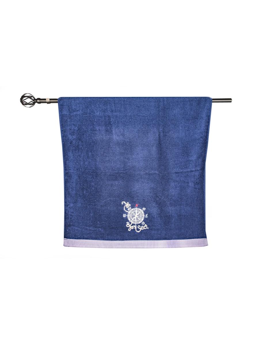 Полотенце банное Grand Stil Азимут, размер 65*135, N14-241b, синий цена