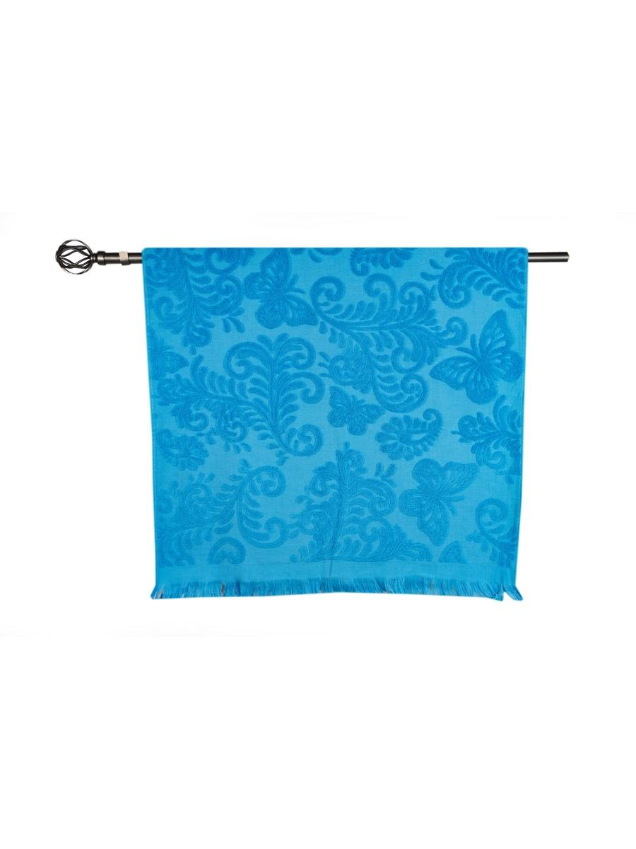 Полотенце банное Grand Stil Бабочка, размер 68*135, GS-H38b, синий цена