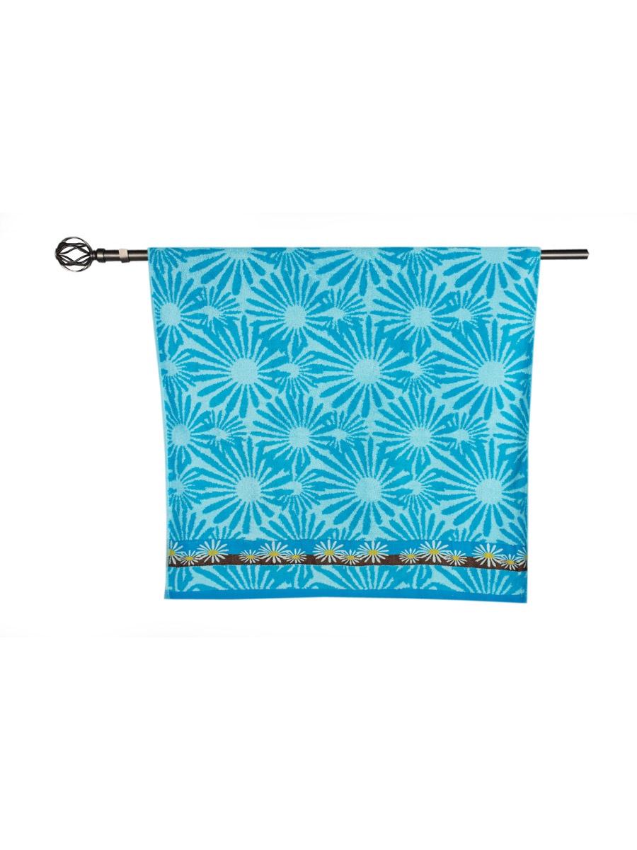 Полотенце банное Grand Stil Гербера, размер 70*135, 14-131b, синий цена