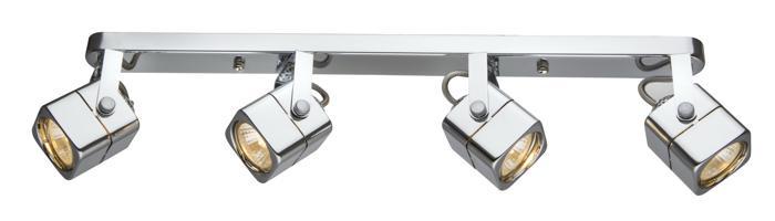 Настенно-потолочный светильник Arte Lamp A1314PL-4CC, серый металлик arte lamp светильник потолочный a5085pl 4cc