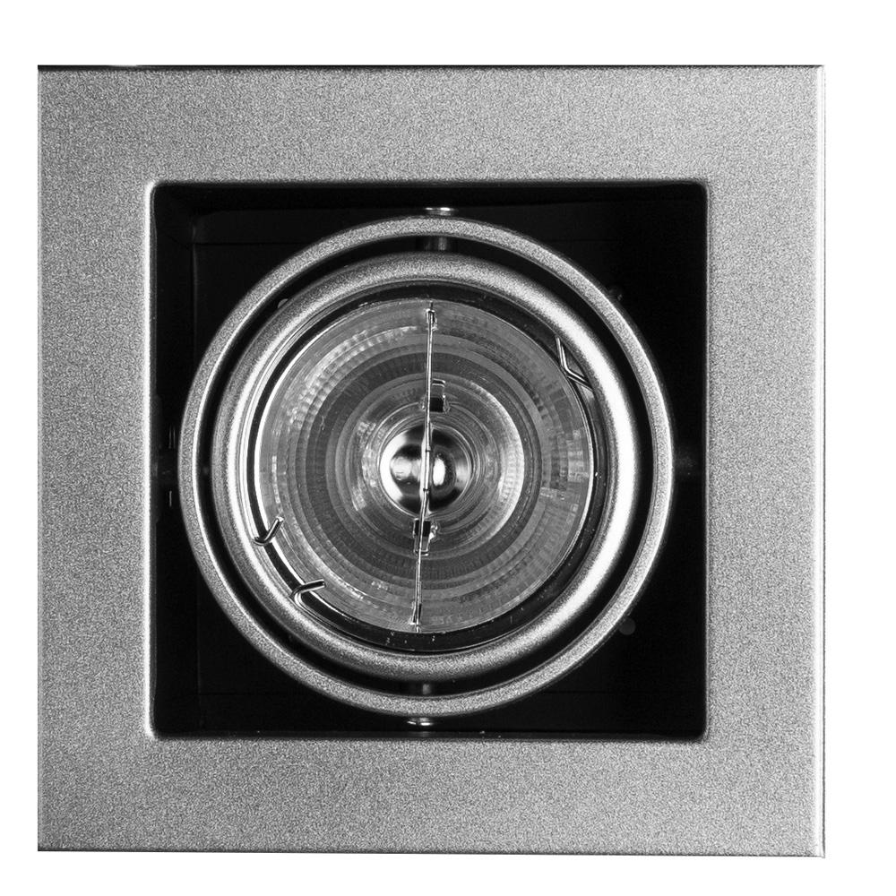 Встраиваемый светильник Arte Lamp A5930PL-1SI, GU5.3, 50 Вт встраиваемый светильник arte lamp cardani a5930pl 4bk