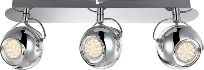 Настенно-потолочный светильник Globo New 57880-3, серый металлик светильник спот globo virunga 541012 3