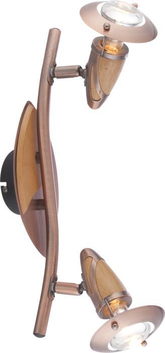 Настенно-потолочный светильник Globo 5436-2, E14, 40 Вт спот точечный светильник globo lord 54330 4