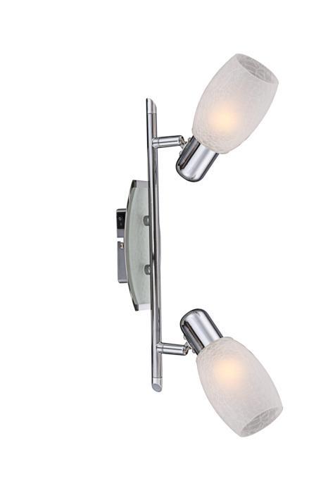 Настенно-потолочный светильник Globo New 54917-2, серый металлик цена