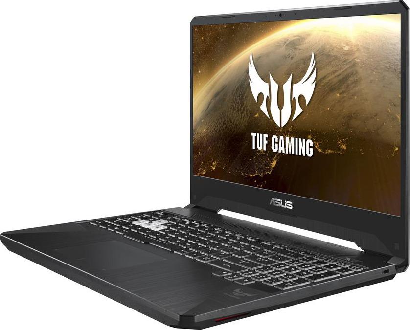 15.6 Игровой ноутбук ASUS TUF Gaming FX505DY 90NR01A2-M02710, черный ноутбук 15 6 fhd asus rog fx505dy bq068t metal amd ryzen 5 3550h 6gb 1tb rx560x 4gb w10 90nr01a2 m02650