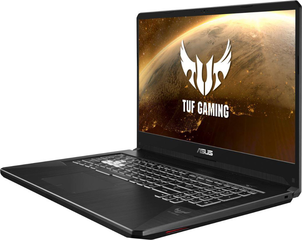 17.3 Игровой ноутбук ASUS TUF Gaming FX705GD 90NR0112-M04350, черный ого pc home3d intel core i7 7700 3 60ghz 8gb 1tb 2048mb nvidia gtx 1050 dvd rw wi fi usb 3 0 600w win10 home 64bit