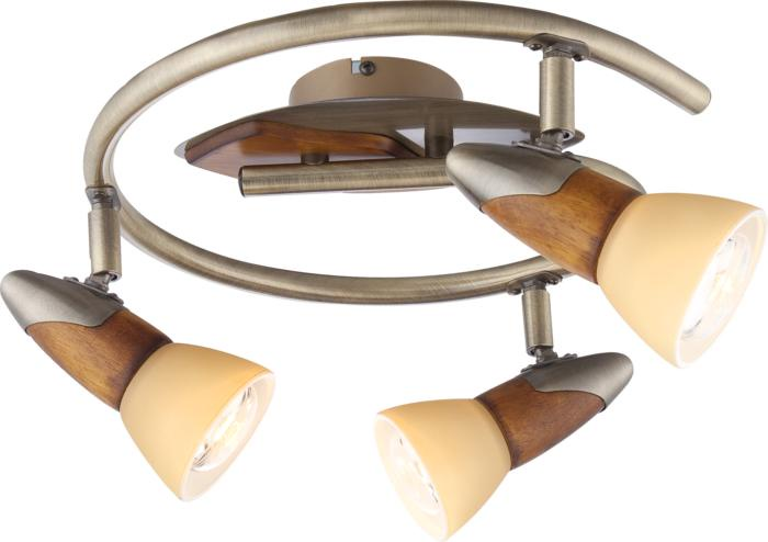 Настенно-потолочный светильник Globo New 5443-3, бронза светильник спот globo lord iii 5443 3