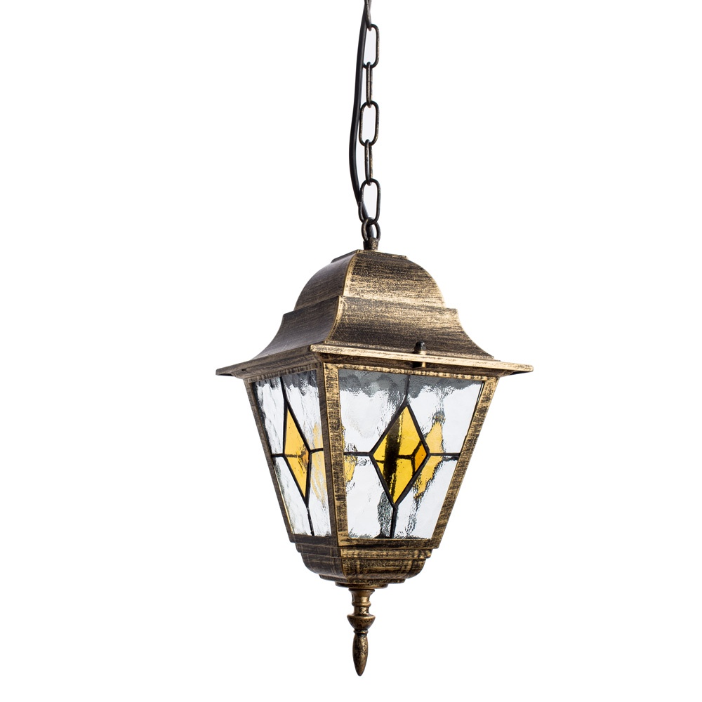 Уличный светильник Arte Lamp A1015SO-1BN, черный уличный подвесной светильник arte lamp genova a1205so 1bn