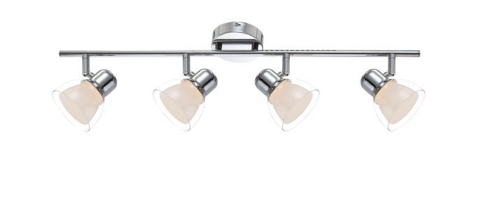 Настенно-потолочный светильник Globo New 56182-4, серый металлик цена в Москве и Питере