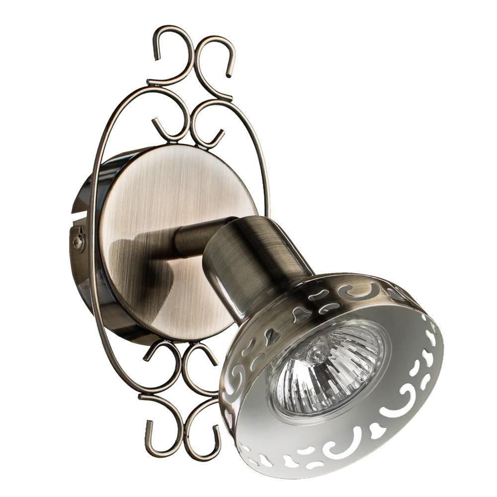 Настенно-потолочный светильник Arte Lamp A5219AP-1BR, коричневый спот arte lamp focus brown a5219ap 1br