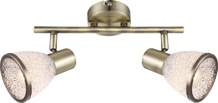 Настенно-потолочный светильник Globo New 56046-2, бронза globo 56046 2