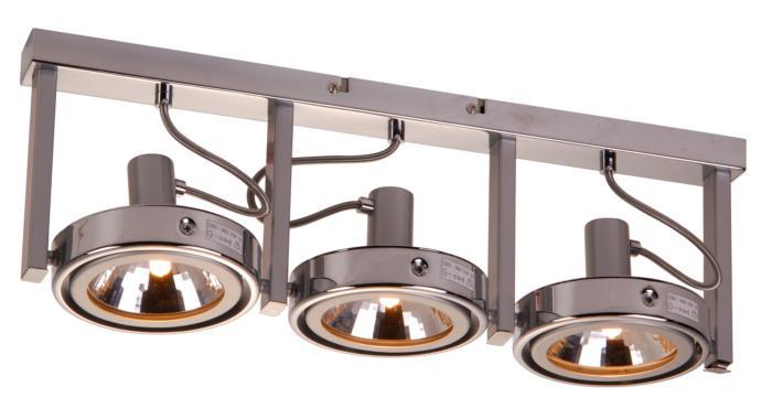 Настенно-потолочный светильник Globo New 5645-3, серый металлик светильник спот globo virunga 541012 3